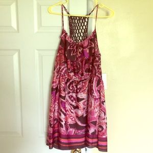 Silk multi colored dress